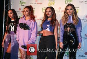 Little Mix (Jesy Nelson, Leigh-Ann Pinnock, Jade Thirlwall and Perrie Edwards) arrives at Free Music Live at the Genting Arena...