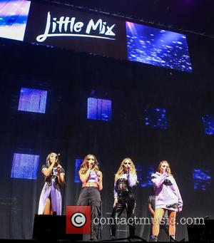 Little Mix (Perrie Edwards, Jade Thirlwall, Jesy Nelson, Leigh Anne Pinnock) perform at Free Music Live at the Genting Arena...
