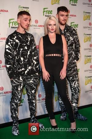 Clean Bandit (Grace Chatto, Jack Patterson and Luke Patterson) arrive at Free Radio Live 2016 held at Genting Arena -...