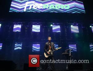 Busted (Matt Willis, Charlie Simpson and James Bourne) perform at Free Radio Live 2016 held at Genting Arena - Birmingham,...