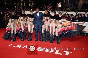 Usain Bolt and various other celebrities attend the World Premiere of I Am Bolt held at the Odeon Leicester Square,...