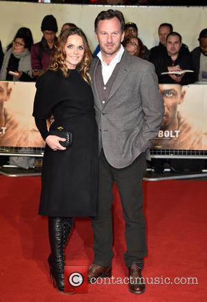 Geri Horner and Christian Horner attend the World Premiere of I Am Bolt held at the Odeon Leicester Square, London,...