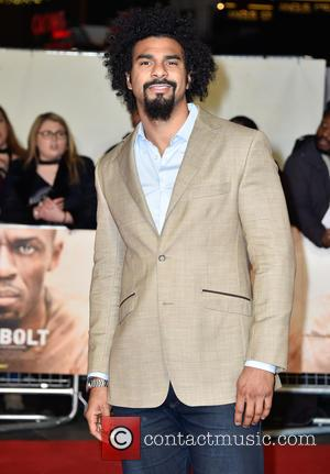 David Haye attends the World Premiere of I Am Bolt held at the Odeon Leicester Square, London, United Kingdom -...