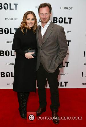 Geri Halliwell and Christian Horner attends the World Premiere of I Am Bolt held at the Odeon Leicester Square, London,...