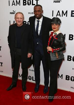 Usain Bolt and Salma Hayek