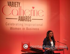 June Sarpong talking on stage at the Variety Catherine Awards in association with the Evening Standard held at the Grosvenor...