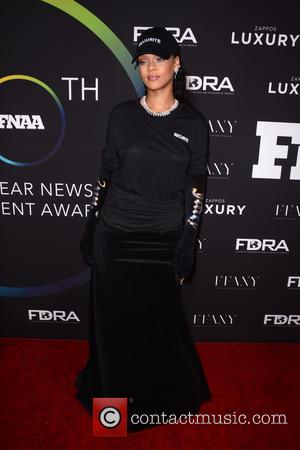 Rihanna seen arriving at the 30th Footwear News Achievement Awards held at IAC Headquarters, New York, United States - Tuesday...