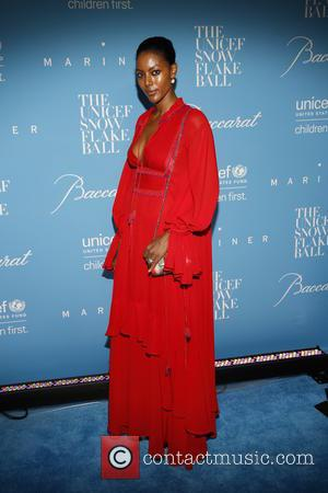 Maya Samuelson seen arriving at the 12th Annual UNICEF Snowflake Ball held at Cipriani 55 Wall street, New York, United...