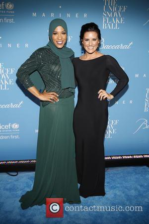 Ibtihaj Muhammad and Ali Krieger seen arriving at the 12th Annual UNICEF Snowflake Ball held at Cipriani 55 Wall street,...