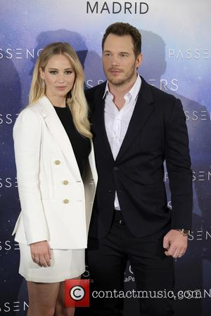 Chris Pratt And Jennifer Lawrence Attend The Passenger Photocall In Madrid