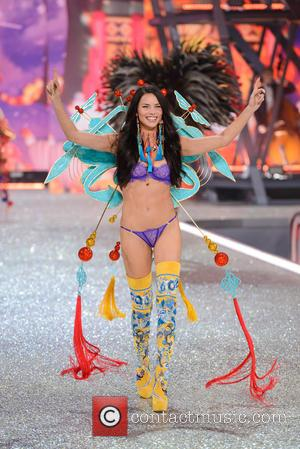 Adriana Lima on the catwalk at the 2016 Victoria's Secret Fashion Show held at Grand Palais, Paris, France - Wednesday...