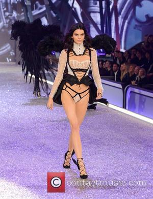Kendall Jenner on the catwalk at the 2016 Victoria's Secret Fashion Show held at Grand Palais, Paris, France - Wednesday...