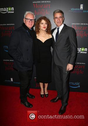 Malcolm Mcdowell, Bernadette Peters and Dermot Mulroney
