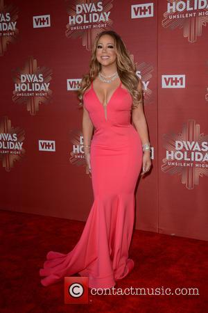 Mariah Carey seen on the red carpet at the VH1's Divas Holiday: Unsilent Night held at Kings Theater - New...