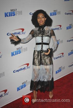 Yara Shahidi seen arriving at 102.7 KIIS FM's 2016 Jingle Ball - Los Angeles, California, United States - Saturday 3rd...