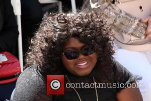 Gabourey Sidibe seen at Lee Daniels star ceremony. Daniels Was Being Honored With His Own Star On The Hollywood Walk...