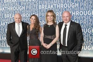 Scott Kelly, Amiko Kauderer, Gabrielle Giffords and Mark Kelly seen on the Red Carpet for the 2017 Breakthrough Prize awards...
