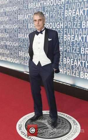 Jeremy Irons seen on the Red Carpet for the 2017 Breakthrough Prize awards held at NASA Ames Research Center in...