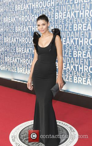 Paloma Jimenez seen alone and with Vin Diesel on the Red Carpet for the 2017 Breakthrough Prize awards held at...