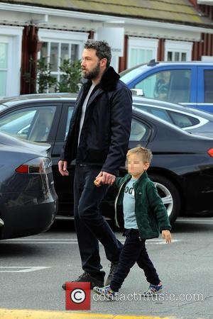 Ben Affleck seen being a good dad and treating his son, Samuel Garner Affleck, to breakfast - Brentwood, California, United...