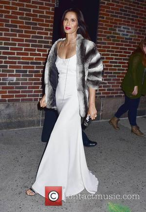 Padma Lakshmi seen outside the The Late Show studios where she was filming an episode of 'The Late Show with...