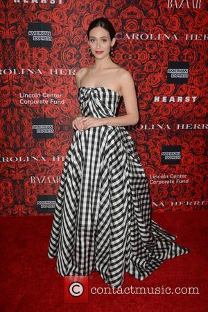 Emmy Rossum Enlists Carolina Herrera To Design Her Wedding Dress