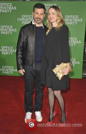 Jimmy Kimmel and Molly McNearney at the Premiere of Paramount Pictures' 'Office Christmas Party' held at Regency Village Theatre, Westwood,...