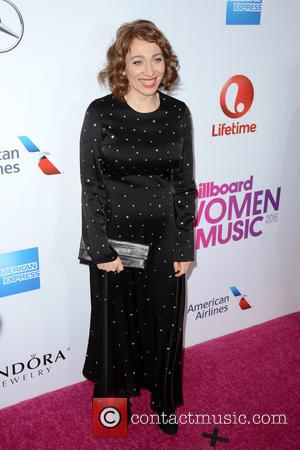 Regina Spektor seen on the red carpet at the 2016 Billboard Women In Music event held at Pier 36, New...
