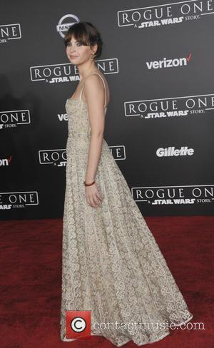 Felicity Jones at the World premiere of 'Rogue One: A Star Wars Story' held at Pantages Theatre, Los Angeles, California,...