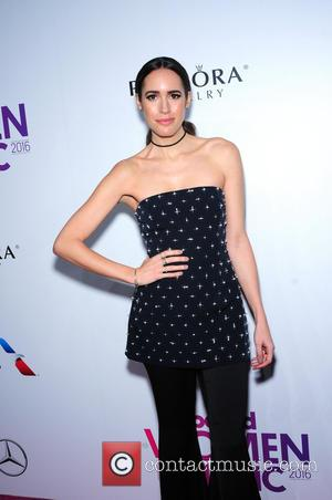 Louise Roe seen on the red carpet at the 2016 Billboard Women In Music event held at Pier 36, New...