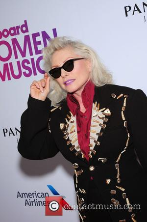 Debbie Harry seen on the red carpet at the 2016 Billboard Women In Music event held at Pier 36, New...