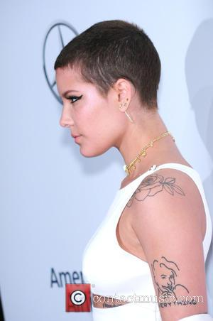 Halsey seen on the red carpet at the 2016 Billboard Women In Music event held at Pier 36, New York,...