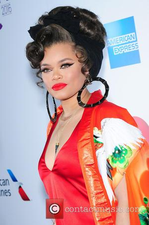 Andra Day seen on the red carpet at the 2016 Billboard Women In Music event held at Pier 36, New...