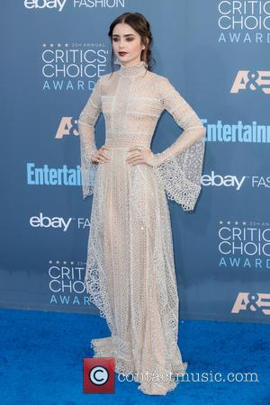 Lily Collins at the 22nd Annual Critics' Choice Awards held at Barker Hangar, Critics' Choice Awards - Santa Monica, California,...