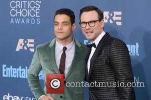 Rami Malek seen alone and with Christian Slater at the 22nd Annual Critics' Choice Awards held at Barker Hangar, Critics'...
