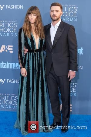 Jessica Biel seen alone and with Justin Timberlake at the 22nd Annual Critics' Choice Awards held at Barker Hangar, Critics'...