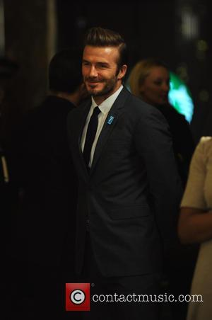 David Beckham Lights The Empire State Building Blue In Honor Of UNICEF's 70th Anniversary - New York, United States -...