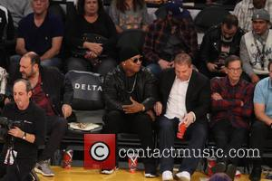 LL Cool J seen at the Lakers game. The New York Knicks defeated the Los Angeles Lakers by the final...