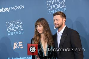 Justin Timberlake and Jessica Biel at the 22nd Annual Critics' Choice Awards held at Barker Hangar, Critics' Choice Awards -...