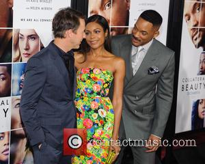 Edward Norton, Naomie Harris and Will Smith at the premiere of Collateral Beauty held at   Jazz at Lincoln...