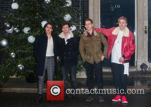 The Vamps at Starlight's Christmas party held at 11 Downing Street hosted by Phillip Hammond, Chancellor of the Exchequer in...
