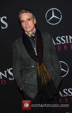Jeremy Irons seen at the New York premiere of 'Assassin's Creed' held at AMC Empire,  New York City, United...