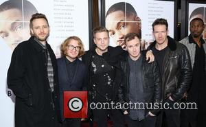 OneRepublic seen at the premiere of Collateral Beauty held at   Jazz at Lincoln Center's Frederick P. Rose Hall,...