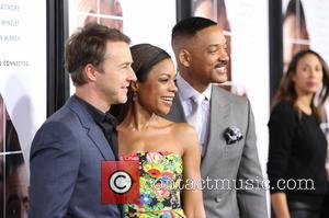 Ed Norton, Naomie Harris and Will Smith seen at the premiere of Collateral Beauty held at   Jazz at...