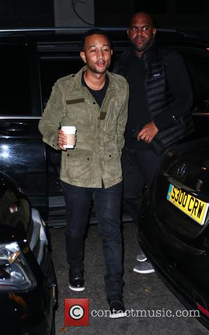John Legend arrives at radio 2 for his appearance on the Chris Evans Show, London, United Kingdom - Friday 16th...