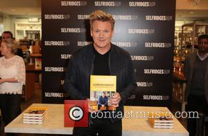 Michelin starred UK chef and television personality, Gordon Ramsay signs latest book at Selfridges - London, United Kingdom - Monday...