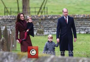Prince William, Duke Of Cambridge, Prince George, Catherine Duchess Of Cambridge, Kate Middleton and Princess Charlotte