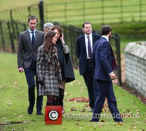 Pippa Middleton, Carole Middleton, James Matthews, Michael Middleton , James Middleton - The Duke and Duchess of Cambridge arrive at...