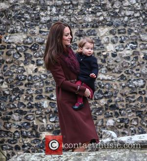 Catherine Duchess of Cambridge, Princess Charlotte , Kate Middleton - The Duke and Duchess of Cambridge arrive at St Marks...