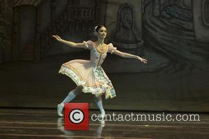 The National Ballet of Uruguay dancers perform during the rehearsal of 'Coppelia' at El Canal Theatre in Madrid, Spain -...